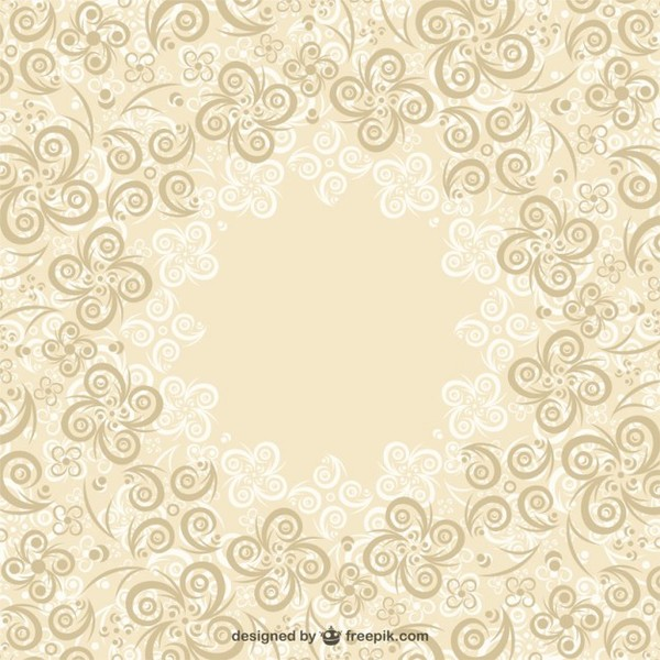 Floral Swirls Background Free Vector