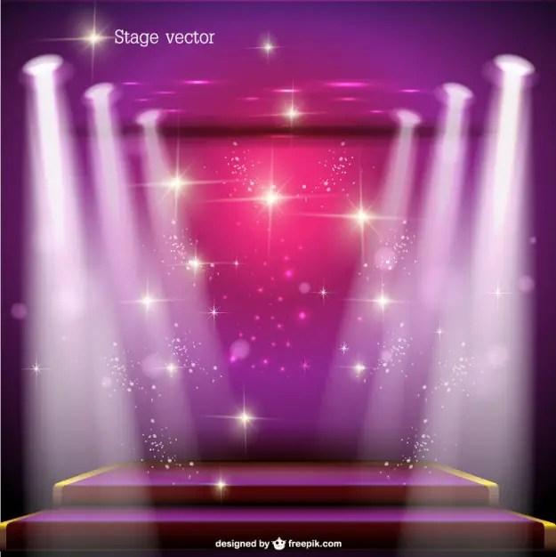 Spotlight Stage Free Design Free Vector