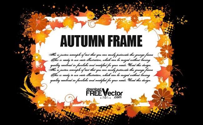 Autumn Frame Free Vector