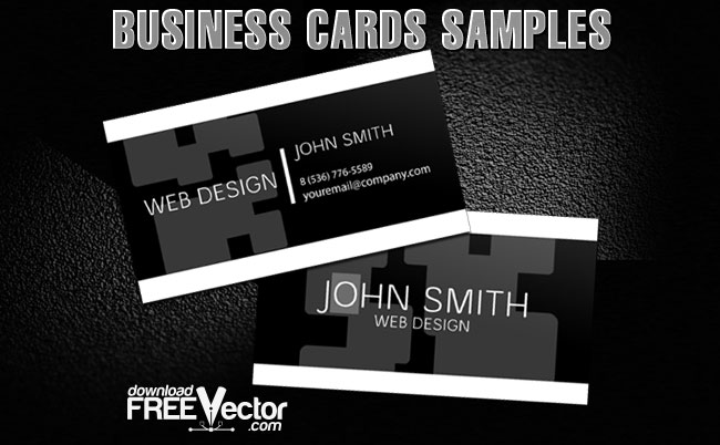 Business Cards Samples Free Vector
