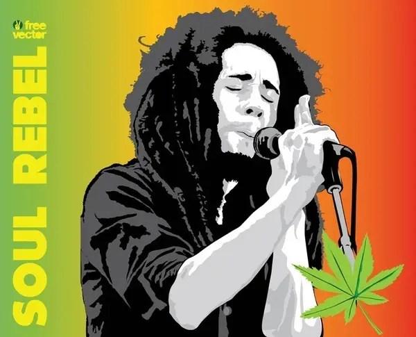 Bob Marley Free Vector 123freevectors