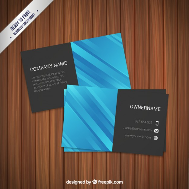 Professional business card free vector 123freevectors professional business card free vector reheart Gallery