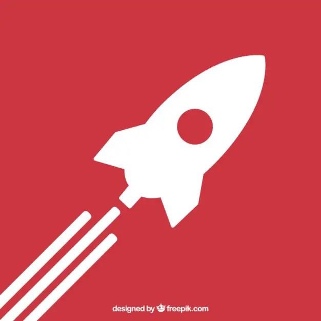 Rocket Launch Icon Free Vector 123Freevectors