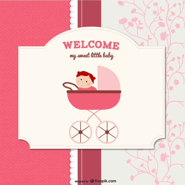 Cartoon Baby Card Free Vector