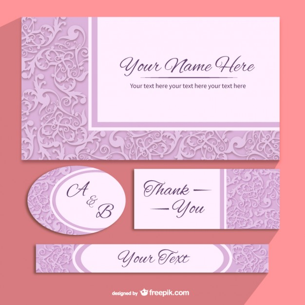 Floral invitation templates pack free vector 123freevectors floral invitation templates pack free vector stopboris Gallery