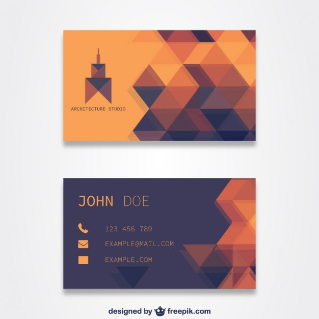 Orange business card template free vector 123freevectors orange business card template free vector reheart Image collections
