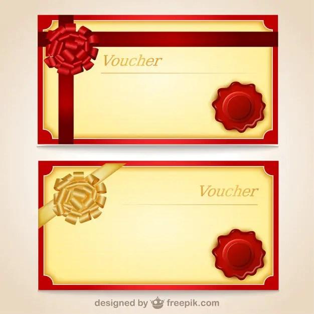 Voucher Templates Free Vector | 123Freevectors