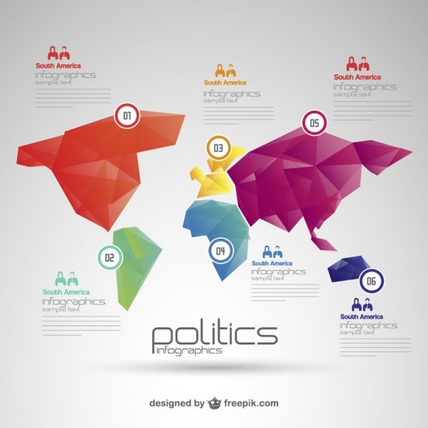 Politics world map infographic free vector 123freevectors politics world map infographic free vector gumiabroncs Images