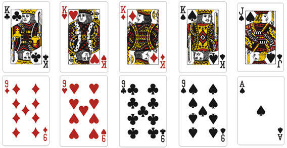 playing card vector template