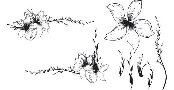 free floral clip art designs 123freevectors rh 123freevectors com Floral Arrangement Clip Art floral designs clipart black and white