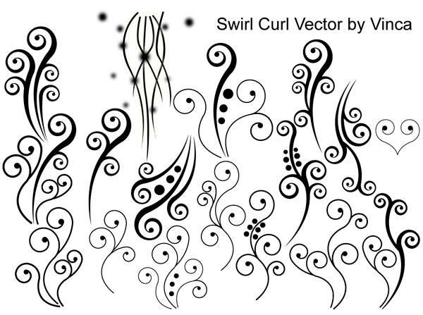 Swirl Curly Vector 123Freevectors