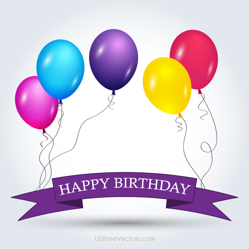 happy birthday banner template free 123freevectors
