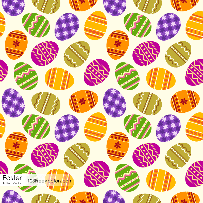 Free Easter Egg Pattern | 123Freevectors
