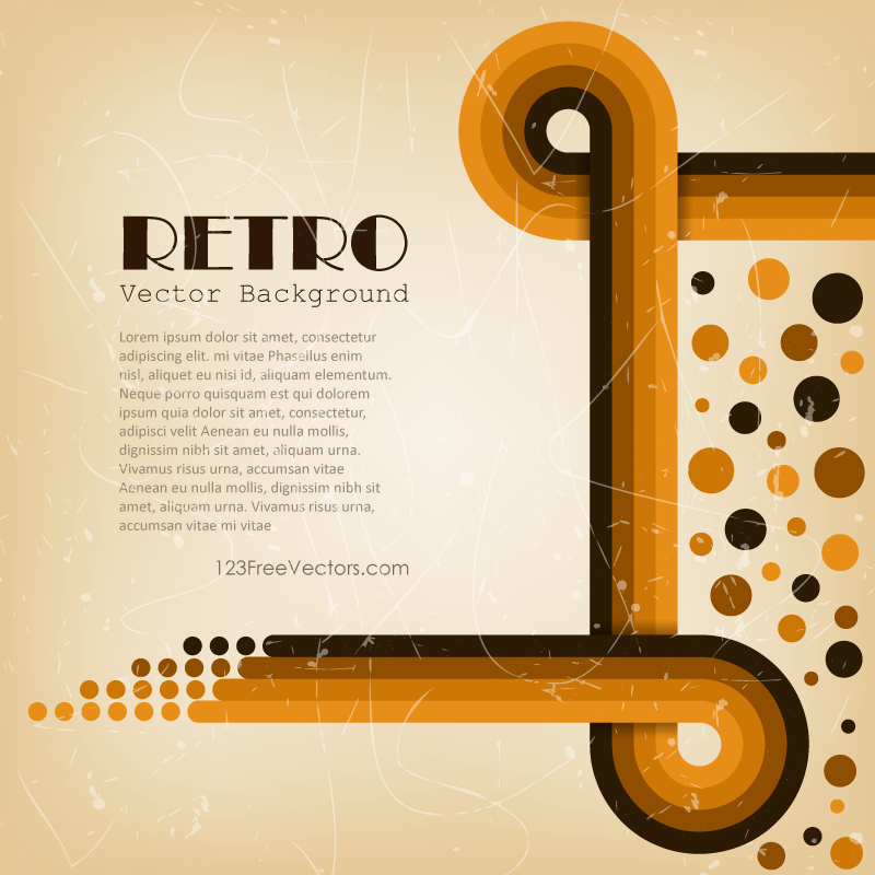 Abstract Retro Lines Background Vector Graphics ...