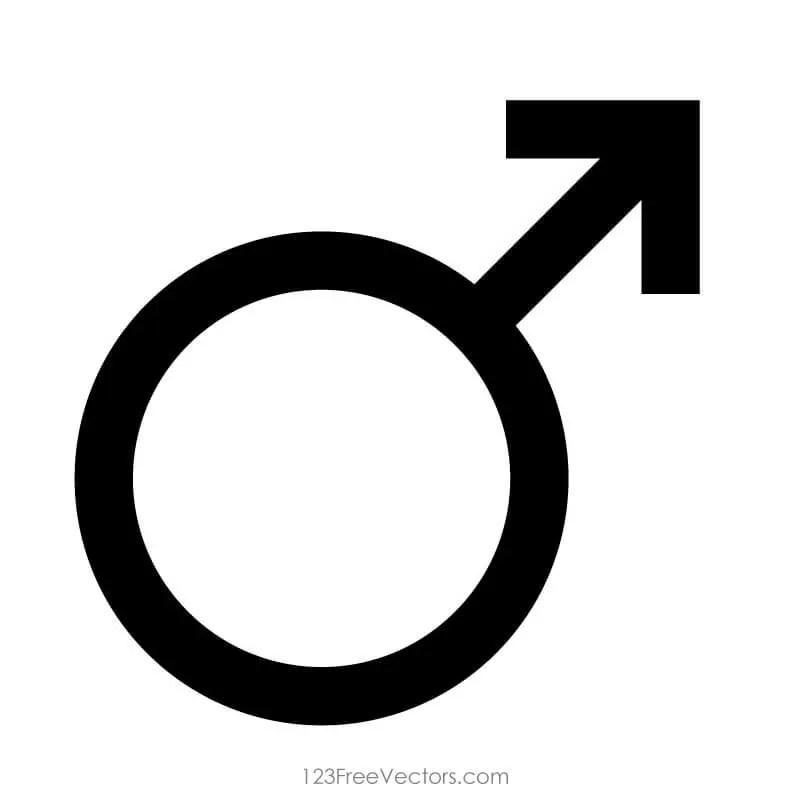 Male Gender Symbol 123freevectors