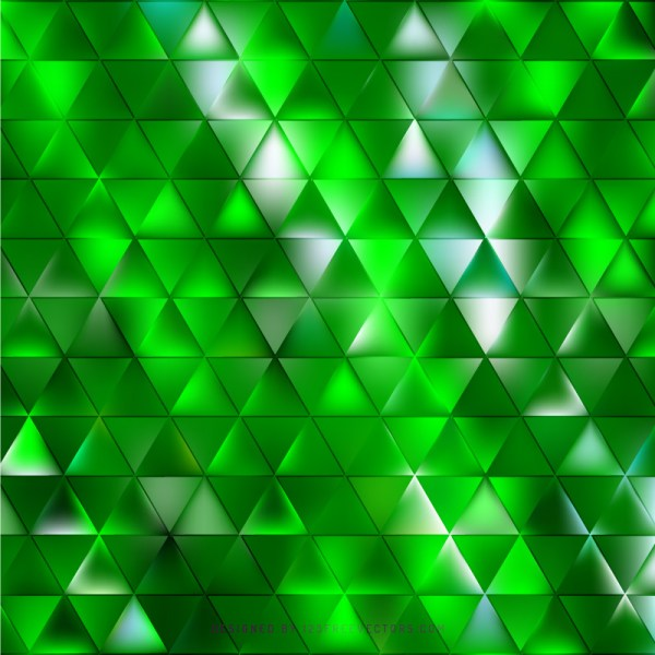 Triangle Abstract Design Green