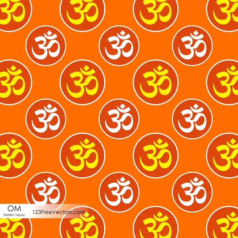 Hindu Om Symbol Pattern Background 123freevectors