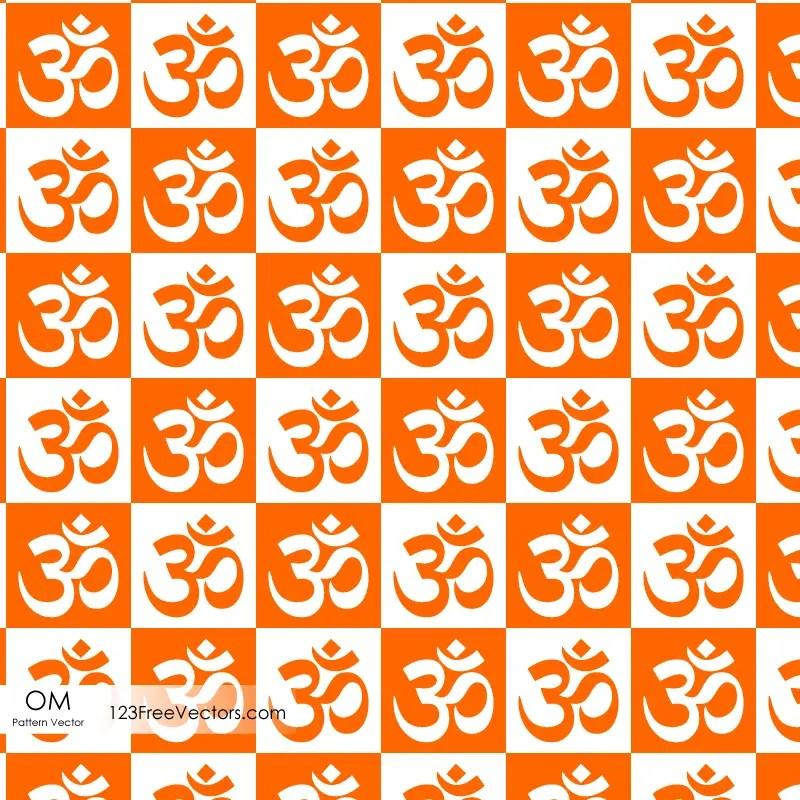 Om Symbol Seamless Pattern 123freevectors