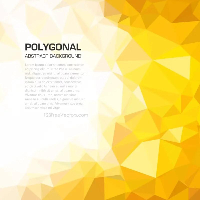 yellow orange geometric polygon background image 123freevectors