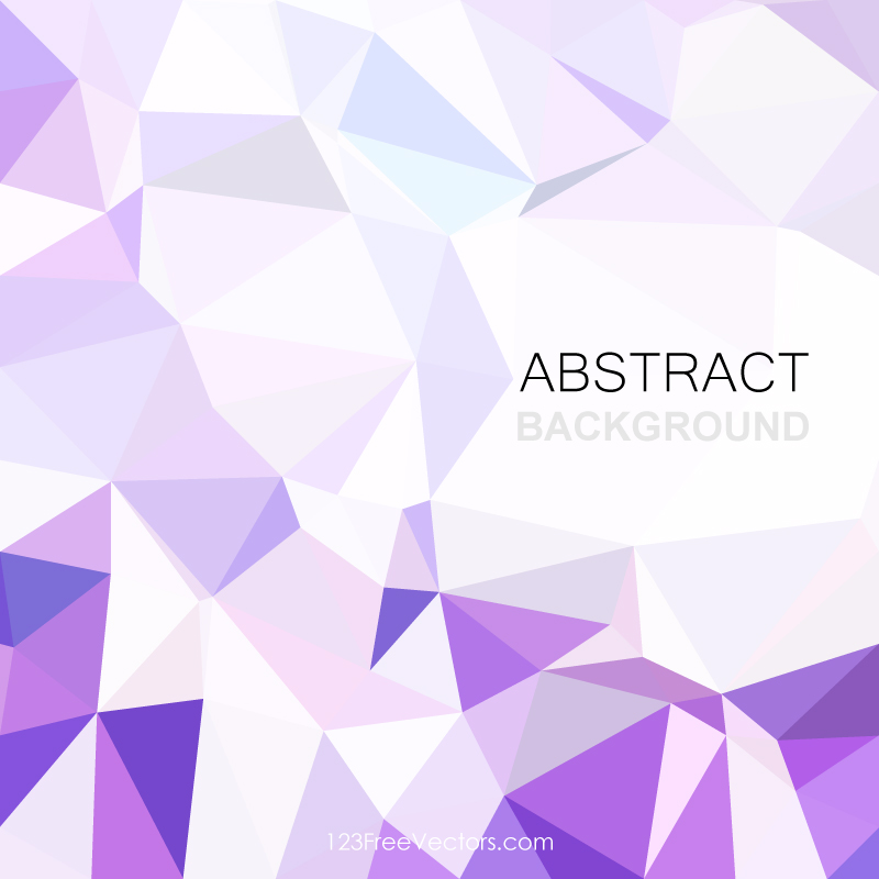 Purple Polygonal Abstract Background: Abstract Light Purple Geometric Polygon Background
