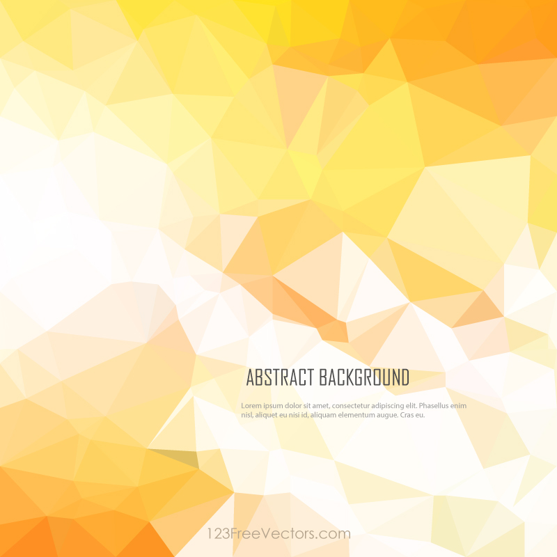 red yellow abstract geometric polygon background design