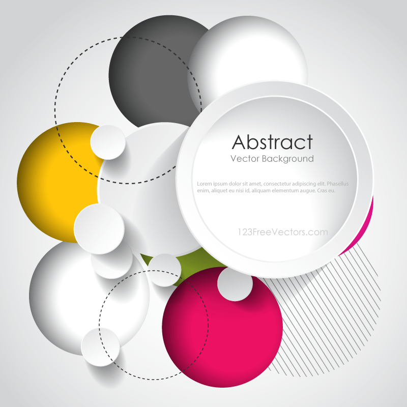 Modern Abstract Circle Background Design Template