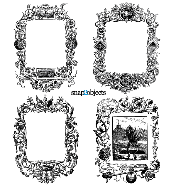 Floral Ornaments Vintage Frames Vector Graphics Free