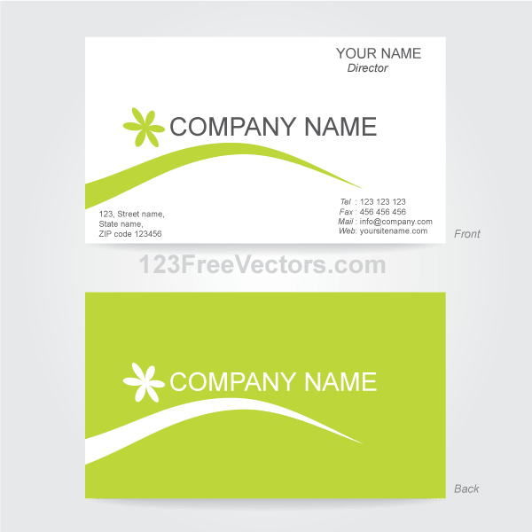 Business card template illustrator 123freevectors business card template illustrator accmission Images