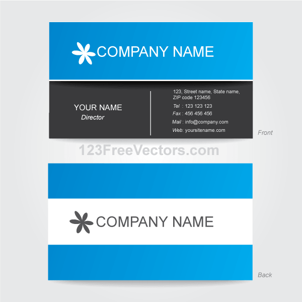 Corporate business card template illustrator 123freevectors corporate business card template illustrator wajeb Images