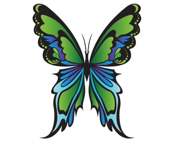 free green butterfly vector graphics 123freevectors rh 123freevectors com butterfly vector art butterfly vector ai