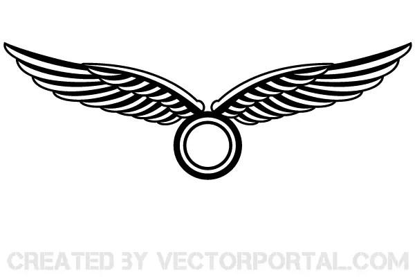wings logo design vector 123freevectors rh 123freevectors com wing logistics fall river wing chun logos