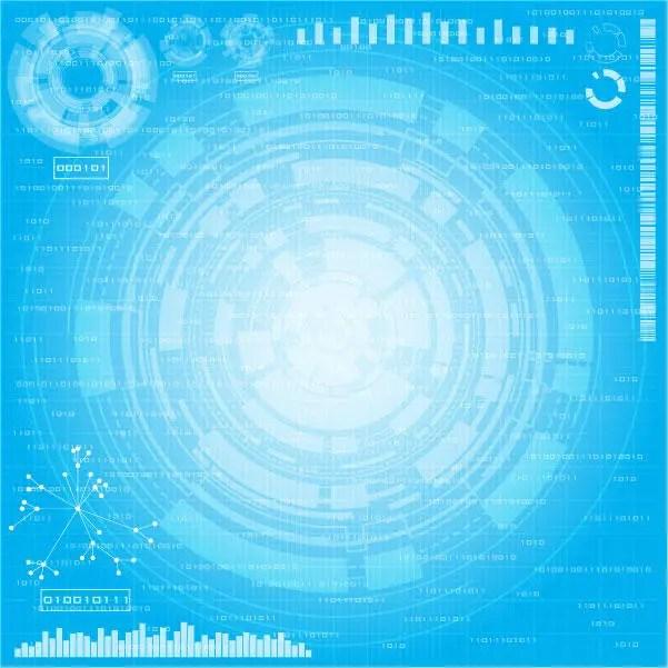 Tech Circle Free Vector