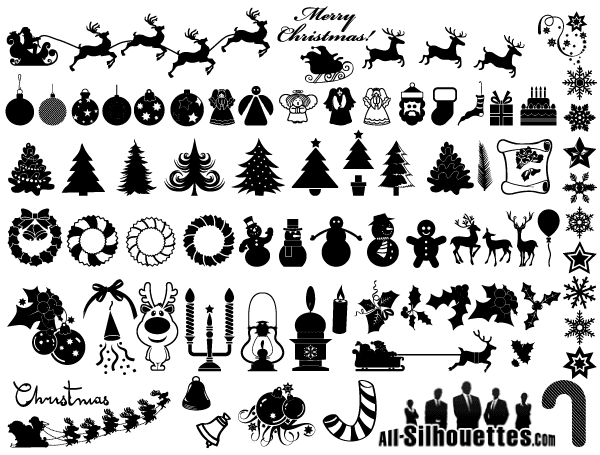 free christmas clip art vector - Free Christmas Clip Art Black And White