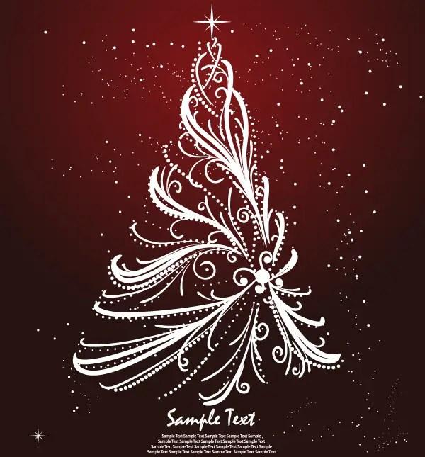 Free christmas tree greeting card design 123freevectors free christmas tree greeting card design m4hsunfo