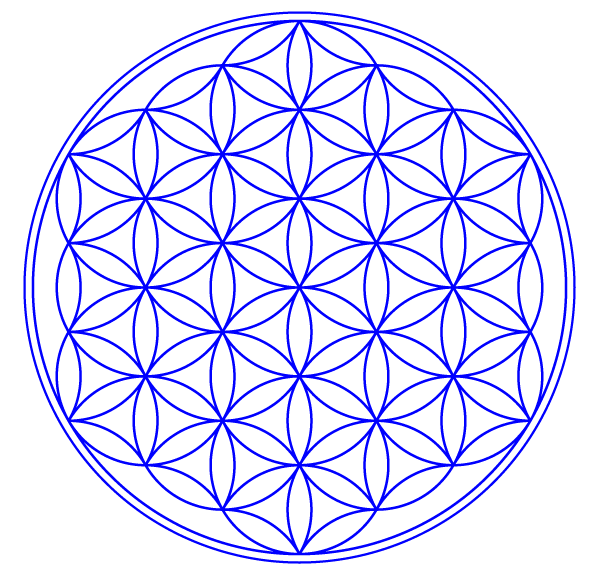 flower of life vector image 123freevectors rh 123freevectors com flower of life vector art flower of life symbol vector free download