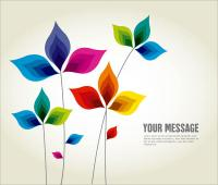 Abstract Multicolor Leaf Background Design Illustration ...