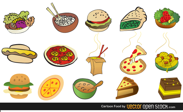 Cartoon Foods Free Vector Images  123Freevectors