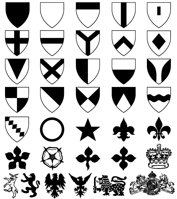Heraldic Shield Coat Of Arms Vector Photoshop Shapes 123freevectors