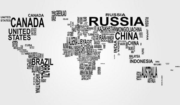 Free vector world map countries in word cloud 123freevectors free vector world map countries in word cloud publicscrutiny Choice Image