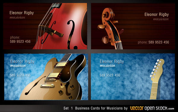 Musicians business card designs vector 123freevectors musicians business card designs vector reheart Images