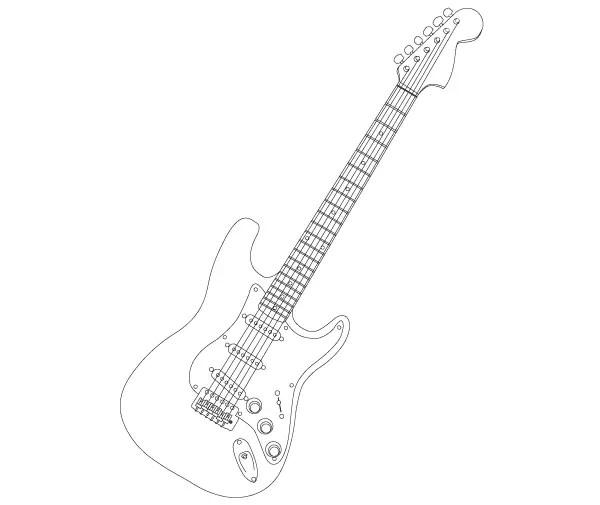 Stratocaster Electric Guitar Vector