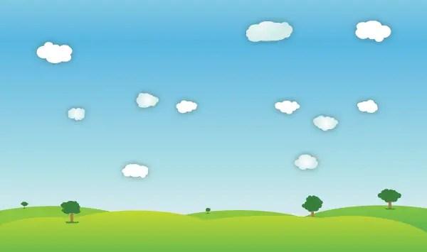 outdoor spring landscape vector
