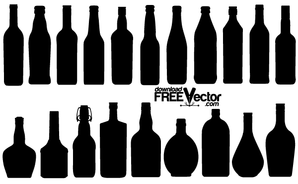 Free Vector Bottle Silhouettes 123Freevectors