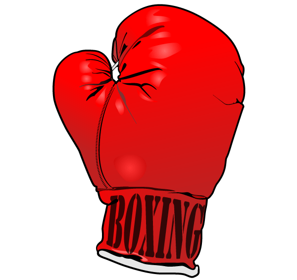 red boxing gloves vector image free 123freevectors rh 123freevectors com boxing glove clipart outline boxing gloves clipart