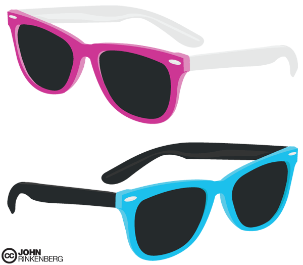 free vector ray ban glasses 123freevectors rh 123freevectors com free vector cool sunglasses free vector sunglass