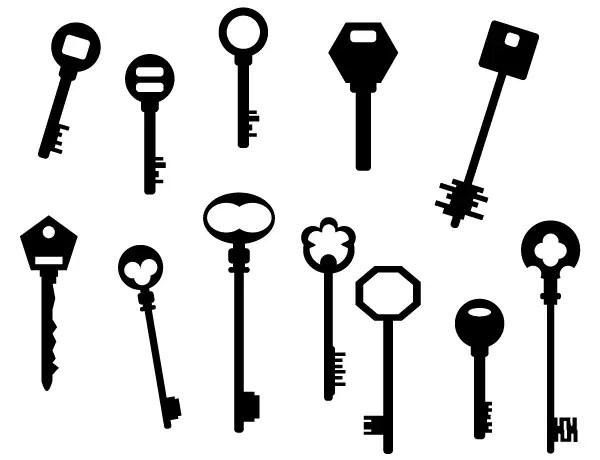 Key Silhouettes Free Vector Art