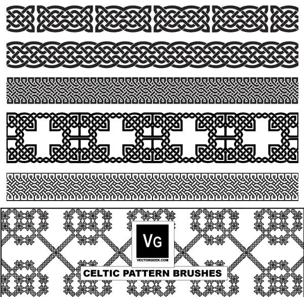 Celtic Pattern Illustrator Brushes Vector Free