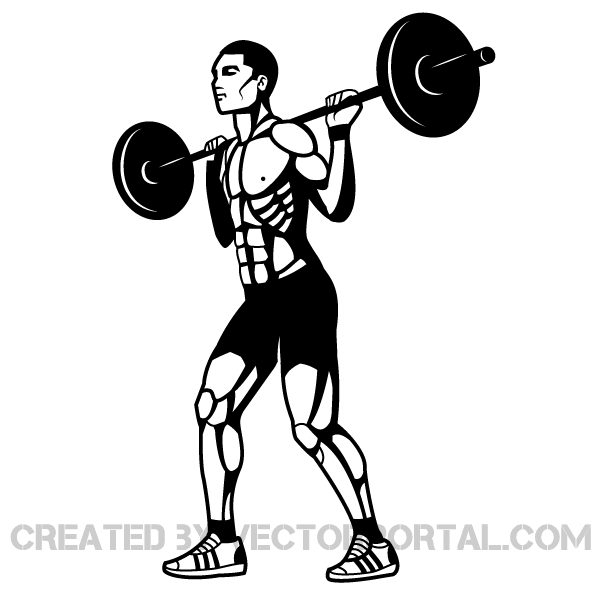 lifting weights clipart