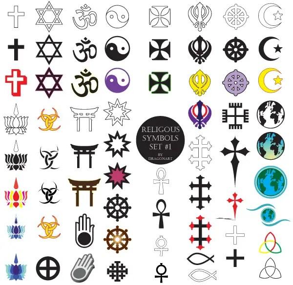 Religious Symbols Free Vector Set 123freevectors