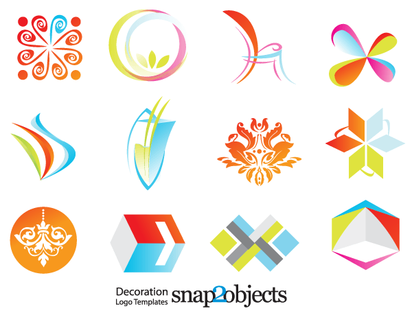 Free Decoration Logo Template Vector Icons   123Freevectors